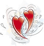 Hart van liefde Royalty-vrije Stock Foto's
