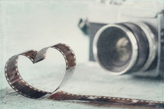 Hart van negatieve die film wordt gevormd Royalty-vrije Stock Afbeelding