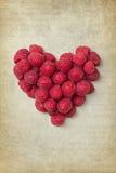 Hart van rasberries Stock Afbeeldingen