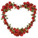 Hart van rode rozen Royalty-vrije Stock Afbeeldingen