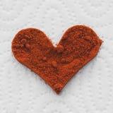 Hart van rode Spaanse peper Royalty-vrije Stock Foto's