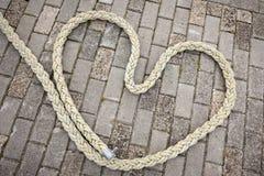 Hart van rope_horizontal Stock Foto