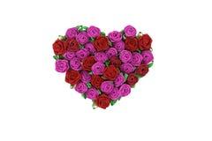 Hart van rozen Stock Afbeelding