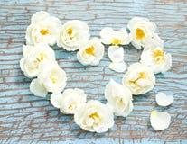 Hart van rozen royalty-vrije stock afbeeldingen