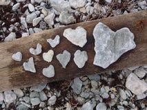 Hart van steen Stock Foto's