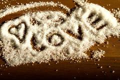 Hart van suiker Stock Fotografie