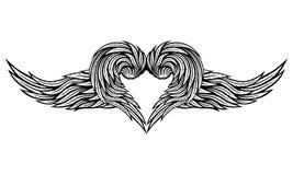 Hart van Vleugels stock illustratie