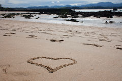 Het Hart van het zand van strand Royalty-vrije Stock Fotografie