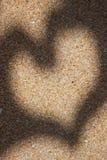 Het Hart van het zand Royalty-vrije Stock Fotografie