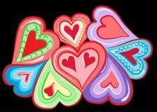 Hart vectorillustratie Royalty-vrije Stock Foto
