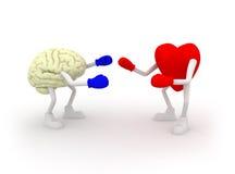 Hart versus Mening. Het vechten. Royalty-vrije Stock Afbeeldingen