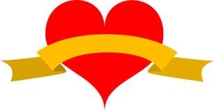 Hart voor de Dag van de Valentijnskaart stock foto's