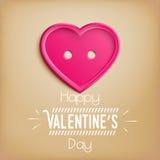 Hart voor de Dag van Valentine (14 Februari) Royalty-vrije Stock Fotografie