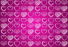 Hart voor Valentijnskaartenachtergrond vector illustratie