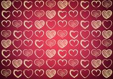 Hart voor Valentijnskaartenachtergrond stock illustratie