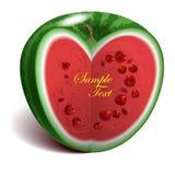 Hart-vorm watermeloen Stock Fotografie