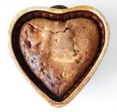 Hart-vormige Cake Royalty-vrije Stock Afbeeldingen