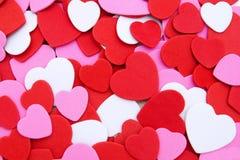 Hart-vormige confettienachtergrond Stock Fotografie