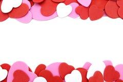Hart-vormige confettiengrens Royalty-vrije Stock Afbeelding