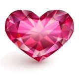 Hart-vormige diamant Stock Afbeelding