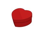 Hart-vormige doos Royalty-vrije Stock Afbeelding