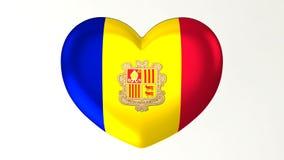 Hart-vormige vlag 3D Illustratie I liefde Andorra stock illustratie