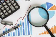 Сhart web business diagram statistic loop pen Royalty Free Stock Images