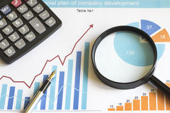 Сhart web icon business diagram statistic Stock Images