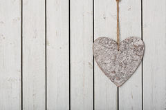 Hart on wooden background Royalty Free Stock Photo