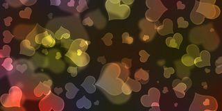 Hartachtergrond, de Achtergrond van Hartbokeh, Valentijnskaarten Dag Conceptr Royalty-vrije Stock Fotografie