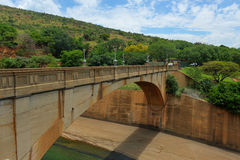 Hartbeespoort Dam - South Africa. The Hartbeespoort Dam wall and tunnel in South Africa stock photo