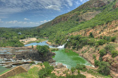 Hartbeespoort Dam - South Africa. Waterfall of Crocodile River Hartbeespoort Dam in South Africa stock image