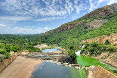 Hartbeespoort Dam - South Africa. Waterfall of Crocodile River Hartbeespoort Dam in South Africa royalty free stock photos
