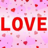 Hartconfettien valentines royalty-vrije illustratie
