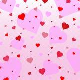 Hartconfettien valentines stock illustratie