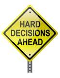 Harte Entscheidungen voran lizenzfreie abbildung