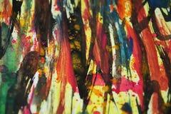 Harte Farben des Aquarells, Kontraste, kreativer Hintergrund der wächsernen Farbe Lizenzfreie Stockfotografie
