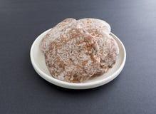 Harte Lebkuchen-Plätzchen auf einer Platten-Seitenansicht Lizenzfreies Stockbild