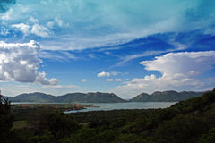 Hartebeespoort Dam. View over the Hartebeespoort dam South Africa Royalty Free Stock Photo