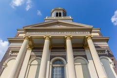 Hartebrugkerk教会的门面在莱顿的中心 库存图片