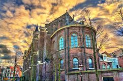 Hartebrugkerk church in Leiden, the Netherlands royalty free stock photo