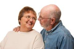 Hartelijk Hoger Paarportret stock foto