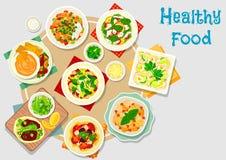 Hartelijk maaltijdpictogram voor het ontwerp van het dinermenu royalty-vrije illustratie