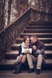 Hartelijk paar in liefde royalty-vrije stock foto's