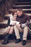 Hartelijk paar in liefde royalty-vrije stock afbeeldingen