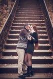 Hartelijk paar in liefde stock afbeelding