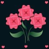 Harten in bloem-vorm Stock Afbeelding
