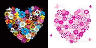 Harten - bloemen Royalty-vrije Stock Afbeeldingen