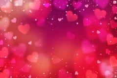 Harten De dag abstracte achtergrond van Valentine ` s met harten Royalty-vrije Stock Foto
