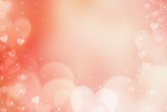 Harten De dag abstracte achtergrond van Valentine ` s met harten Stock Afbeelding